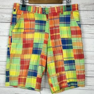 Loudmouth Golf Mens Shorts 34 Quilt Patchwork